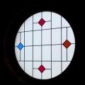 Witraże w kaplicy w Nasiłowie